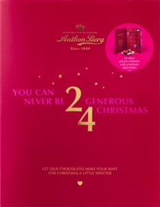Anton berg julekalender, julekalender med chokolade, chokolade julekalender, antonberg chokolade julekalender
