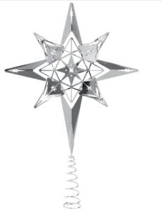 Rosendahl topstjerne sølv, Rosendahl juletræsstjerne, juletræsstjerne 2019, juletræsstjerne, topstjerne, stjerne til juletræet, julestjerne, juletræsstjerne i sølv, H C Andernse juletræsstjerne