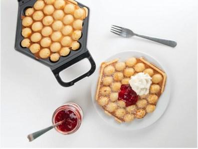 boble waffel jern, bubble waffel jern, jern til boble wafler, sjove køkkenmaskiner, vaffeljern,