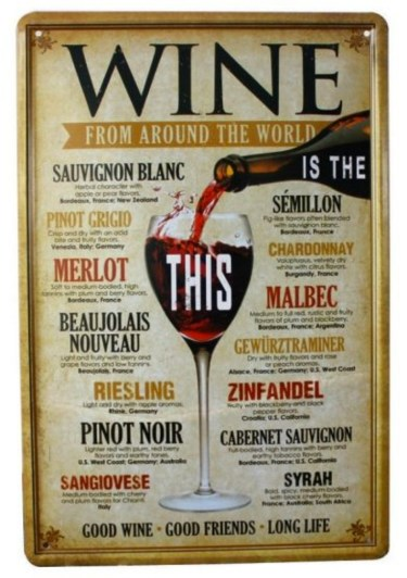 Wine retro skilt, Vin retro skilte, retro skilte, sjove retro skilte, pakkelegsgaver, gaver til under 50 kr,