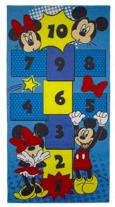 Gulvtæppe med Mickey mouse, Mickey Mouse gulvtæppe, Gulvtæppe med Mickey Mouse, Gulvtæppe med tal, Tal gulvtæppe