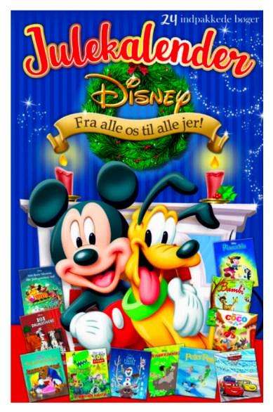 Bøger fra Disney julekalender, julekalender med disney eventyr, bog julekalendere til børn, julekalender til børn,