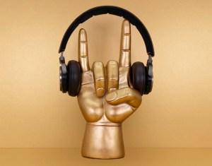Rock On Hovedtelefonholder, hovedtelen holdere, fede gaver til teenagere, teenage drenge gaver, holder til hovedtelefoner