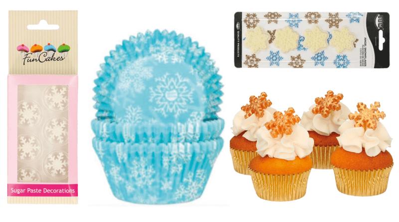 snefnug kagedekoration, guld krymmel, julepynt med snefnug, guld snefnug kagepynt, kagepynt med snefnug, krymmel med snefnug, julekager med snefnug, Kagetilbehør med snefnug, snefnug kage, kage med snefnug, kagetilbehør med sne, sne kager, snefnug kager