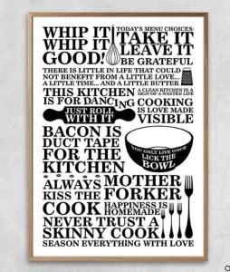 citat plakat, plakter til køkkenet, plakater til mor, mor plakater, sjove plakater, sjove citat plakater