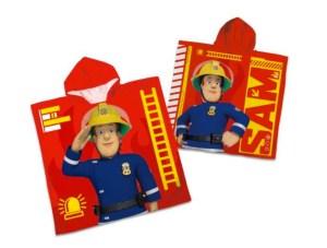 Brandman Sam Poncho Håndklæde, håndklæde med Brandmand Sam, Gaver til børn og børnebørn