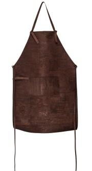 læder forklæde, forklæder til mænd, forklæder af løder, brun læder forklæde,