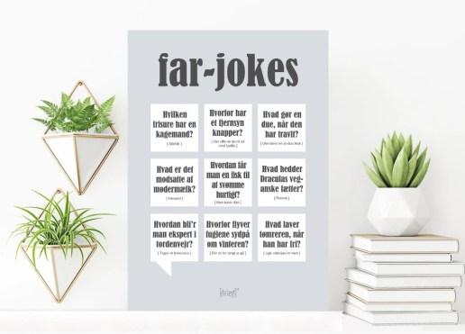 Plakat med Far jokes, far jokes plakat, far plakat, Plakat med Far defination, gaver til far, Faren plakat