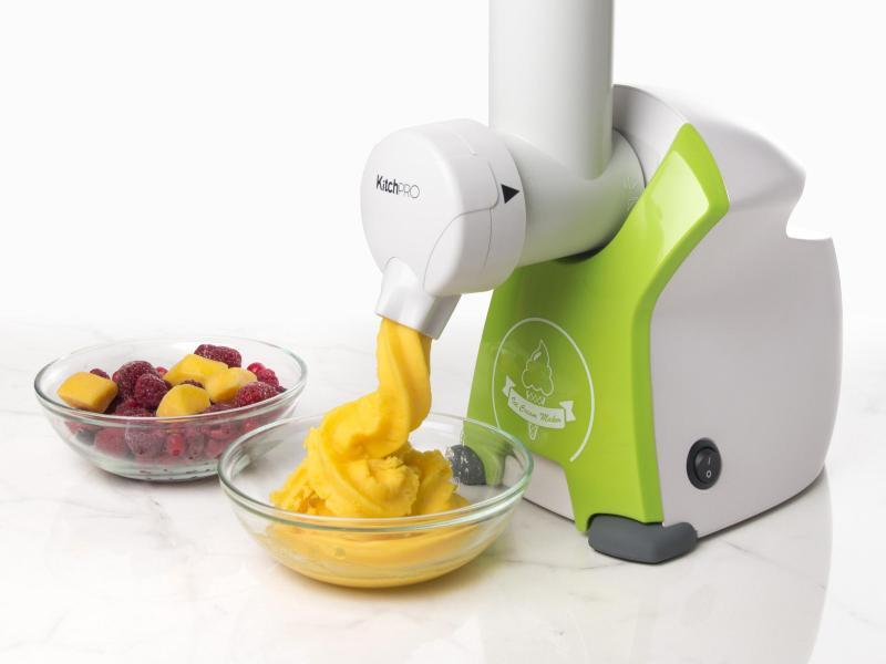 Sorbet maskine, maskine til sorbet, lav bær til is, sjove køkken maskiner, gaver til teenagere, sund is, maskine til sund is