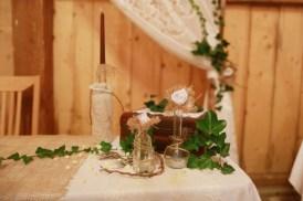 DIY Vintage Kerzenständer Spitze Jute