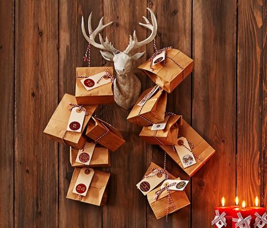 Adventkalender basteln, Adventskalender selber machen, DIY Adventskalender, DIY Weihnachten, Eduscho Bastelset Adventkalender, Tschibo Bastelset Adventkalender
