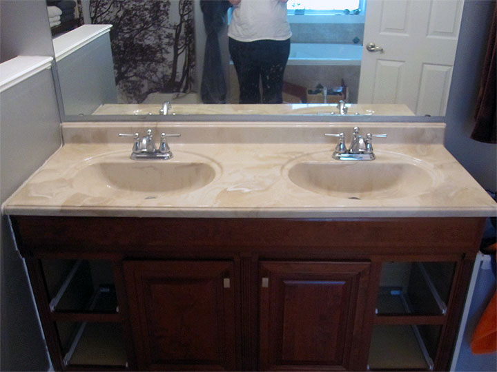 Image Result For Refinishing The Bathroom Vanity Top Part Julepstyle