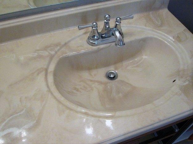 refinishing the bathroom vanity top: part 1 julepstyle