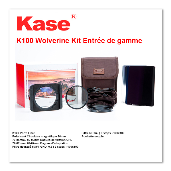 Kase K100 Wolverine Kit Entrée de Gamme