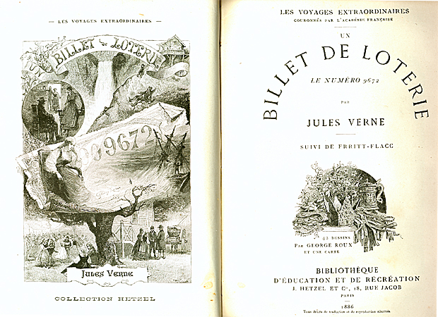 """1. utgave """"Loddseddelen"""" - """"Un billet de loterie"""" Paris,1886"""