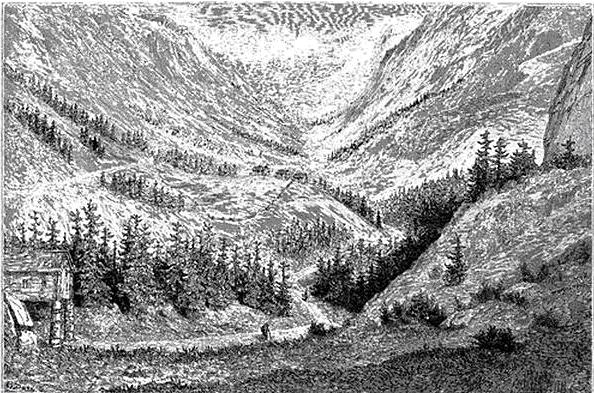 """Gustave Doré: Vestfjorddalen, """"Le tour du monde"""", 1860"""
