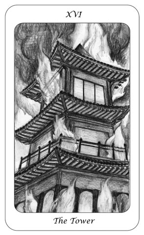 Tarot Card 16 - The Tower - Boswell - Julesknowlton