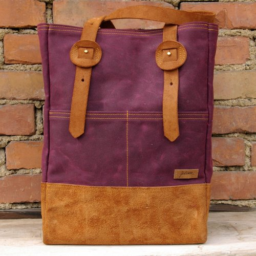 Canvas Shopper - Bordeaux