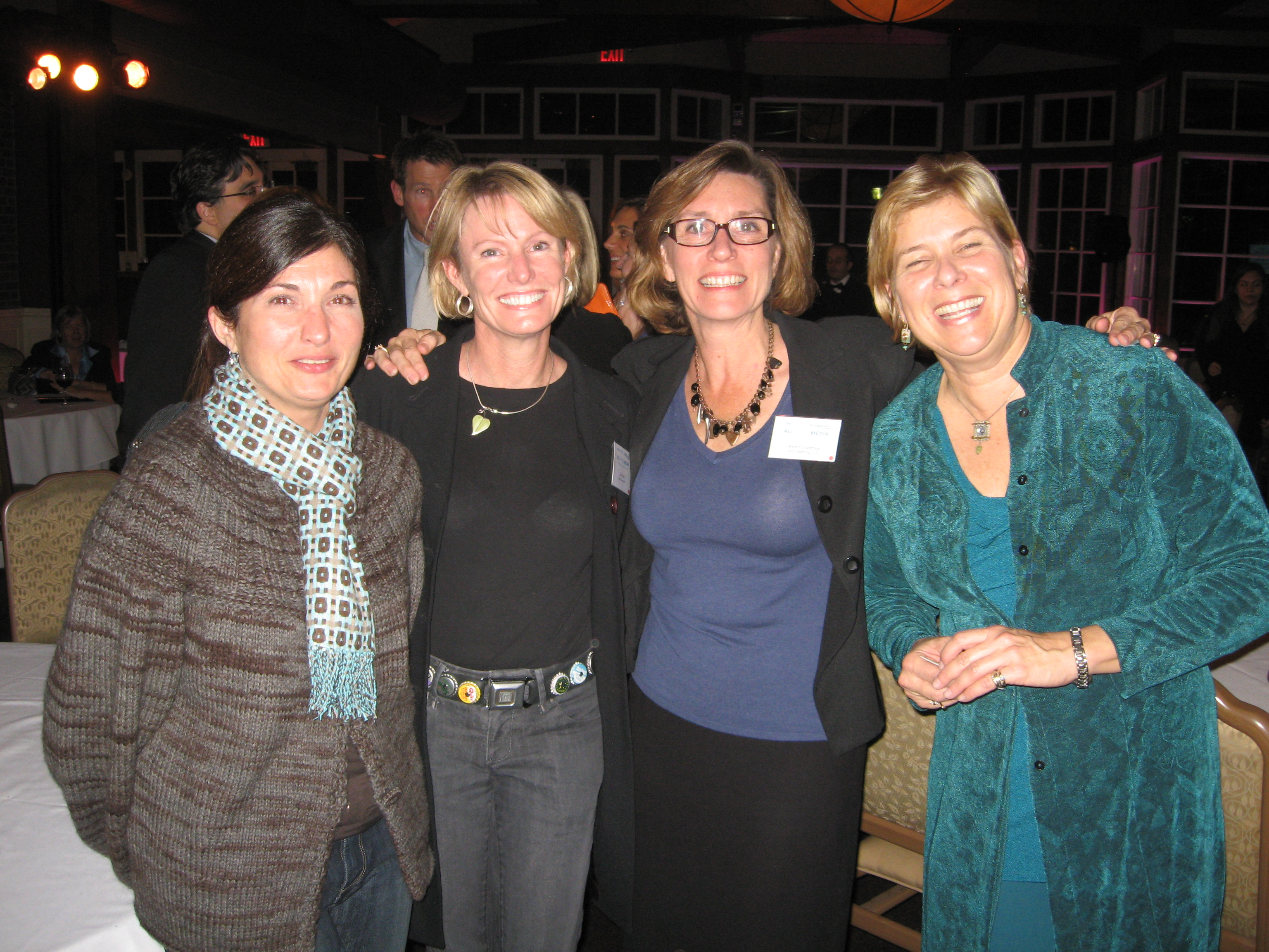 Joanne and me with Anne and Jan, the founders of QLD Learning at the fancy celebratory dinner.  Joanne and I were decidedly underdressed, but we had no idea that we were heading to such a shindig.  (And it is hard to get us out of jeans in the best of circumstances anyway.)