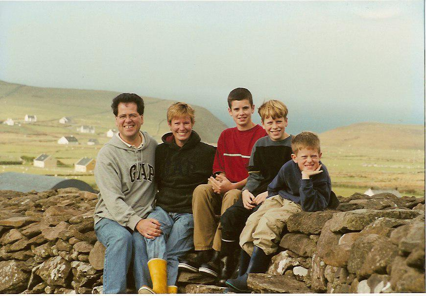 My family, in a fort on Dingle Peninsula, when we lived in Ireland