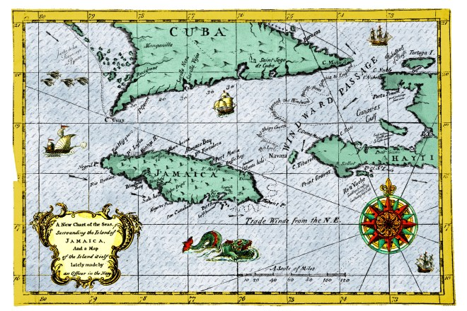 Jamaica map for the Pirates of Port Royal series