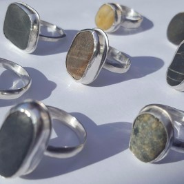 I can make to order Pebble Rings....you choose your pebble and I will set into Sterling Silver! Here's a range of my Polzeath Pebble Rings £44+