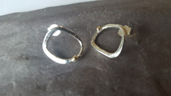 Rock Pool studs with gold beads