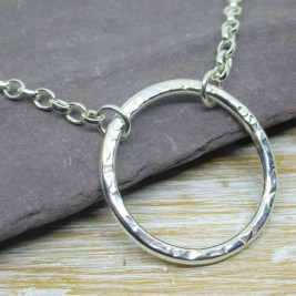 Silver Circle Infinity Necklace