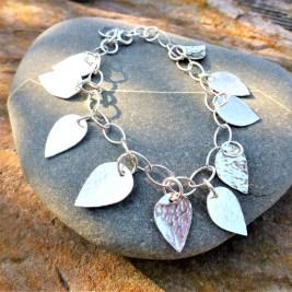 Silver petals bracelet. £40.00