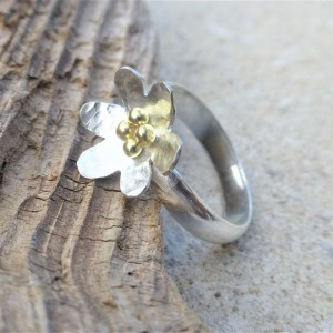 Silver & Fairtrade Gold Ring