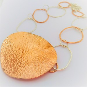 Extra Large Copper Statement Necklace