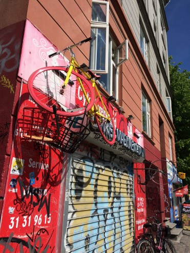 It's not a big city, so Danes will come up with creative solutions for parking their bikes