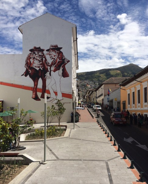 It's not Valparaiso, but there's some cool street art in Quito too