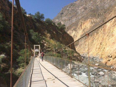 Finally at the bottom of the Colca Canyon