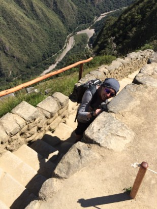 Jules and the rest of the kids were playing hide and seek at Machu Picchu