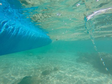 The water in the reef is usually pretty shallow