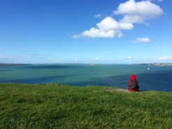 Jules enjoys the view from North Head, a defense fortification in Devonport from the 19th century