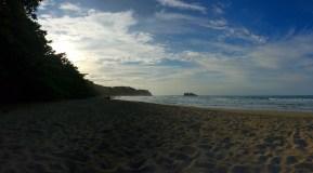 Enjoying 'Playa Cocles' at sunset