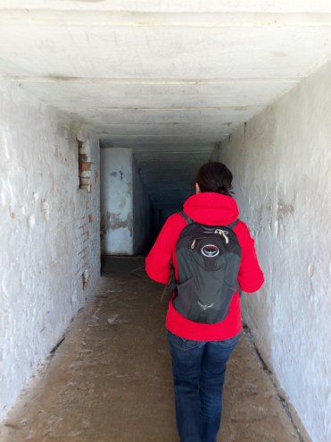 Jules enters the maze of tunnels built into North Head