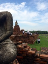 Ayutthaya Is much less busy than Bangkok, but it stills attracts a crowd...