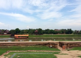 Ayutthaya sits about 80km from Bangkok and is well worth a visit