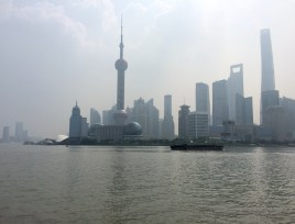 Pudong, Shanghai's financial district, seen from across the Haungpu river
