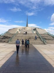 The Millennium Monument as built to welcome the new millennium