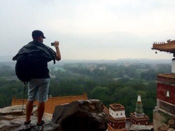 Verne enjoys the Summer Palace in the rain