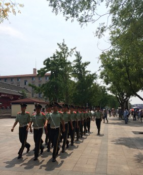 Changing of the guard at Tiananmen Square