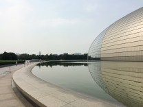 Beijing's Opera House, or the 'Giant Egg', is an incredible structure of titanium and glass