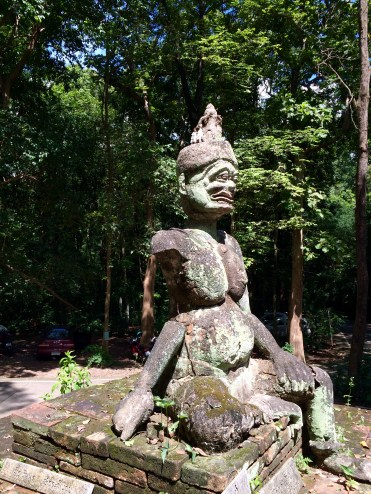 One of the guardians of the entry to the Wat Umong temple