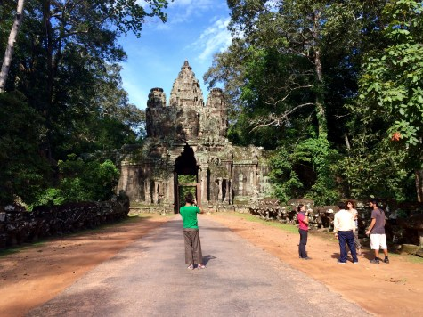 We entered Angkor Thom through the North Gate