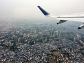 Flying over Mumbai's slums