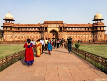 One of its most iconic buildings is the Jahangiri Mahal, which was the fort's zenana, housing the royal household's women
